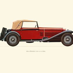 Alfa- Romeo art print by Gallerist
