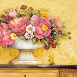 The Pink Flowers art print by Gallerist
