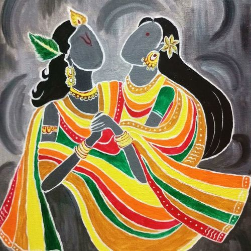 radhemohan, 16 x 20 inch, shuchita srivastava,paintings,love paintings,paintings for living room,canvas,acrylic color,16x20inch,GAL0398411590heart,family,caring,happiness,forever,happy,trust,passion,romance,sweet,kiss,love,hugs,warm,fun,kisses,joy,friendship,marriage,chocolate,husband,wife,forever,caring,couple,sweetheart