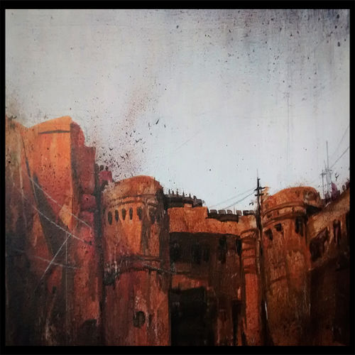 agra fort, 21 x 15 inch, sankar thakur,landscape paintings,paintings for living room,fabriano sheet,watercolor,21x15inch,GAL07116
