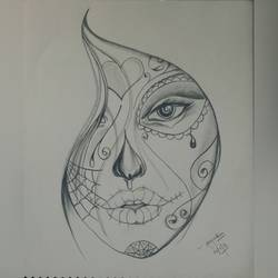abstract face, 12 x 16 inch, pratishtha majumdar,drawings,abstract drawings,abstract expressionist drawings,modern drawings,paintings for dining room,paintings for living room,paintings for bedroom,paintings for office,paintings for hotel,thick paper,graphite pencil,12x16inch,GAL0470611618