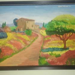 landscape, 26 x 19 inch, afrin ansari,paintings,flower paintings,nature paintings,realistic paintings,paintings for living room,paintings for living room,canvas,oil,26x19inch,GAL0489011631Nature,environment,Beauty,scenery,greenery