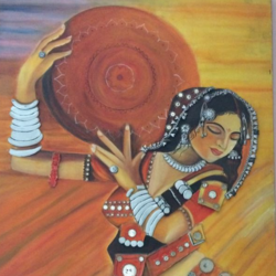 the banjara girl, 24 x 36 inch, chhaya agrawal,figurative paintings,folk art paintings,portrait paintings,paintings for dining room,paintings for living room,paintings for bedroom,paintings for bathroom,paintings for hotel,paintings for dining room,paintings for living room,paintings for bedroom,paintings for bathroom,paintings for hotel,canvas,oil paint,24x36inch,GAL0489811641