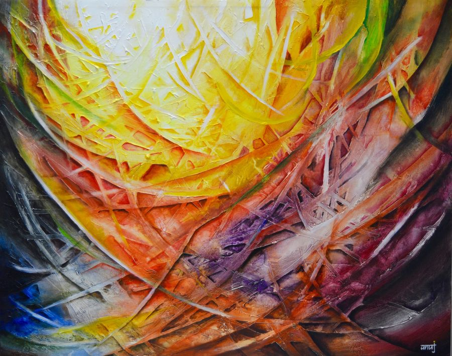 oblivion, 45 x 36 inch, anuj malhotra,abstract paintings,paintings for living room,canvas,mixed media,45x36inch,GAL04841165