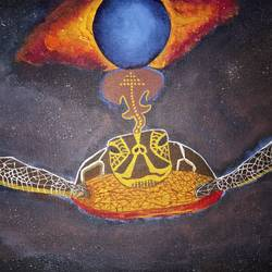 world turtle, 16 x 12 inch, ankur mangla,paintings,conceptual paintings,paintings for living room,canvas,acrylic color,16x12inch,GAL0491311652