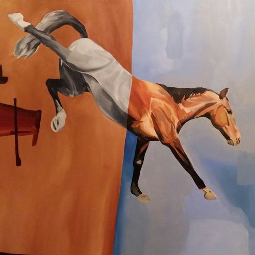 freedom (i), 42 x 56 inch, varun kapoor,paintings,expressionist paintings,animal paintings,contemporary paintings,realistic paintings,horse paintings,paintings for dining room,paintings for living room,paintings for bedroom,paintings for office,paintings for hotel,canvas,acrylic color,42x56inch,GAL0491411653