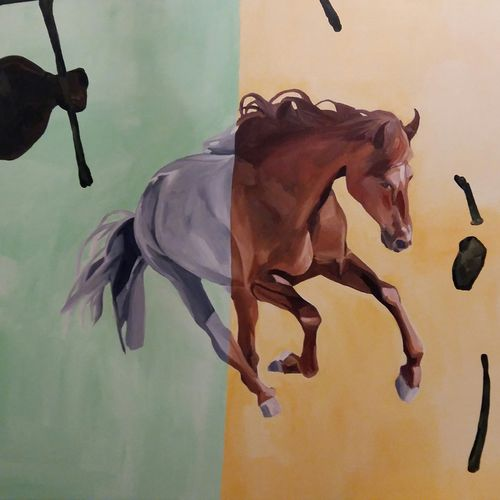 strength (i), 56 x 42 inch, varun kapoor,paintings,animal paintings,contemporary paintings,realistic paintings,horse paintings,paintings for dining room,paintings for living room,paintings for bedroom,paintings for office,paintings for hotel,paintings for dining room,paintings for living room,paintings for bedroom,paintings for office,paintings for hotel,canvas,acrylic color,56x42inch,GAL0491411655