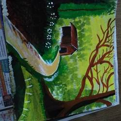 , 18 x 24 inch, ekta shah,paintings,nature paintings,paintings for dining room,paintings for living room,paintings for bedroom,paintings for office,paintings for kids room,paintings for hotel,hardboard,fabric,18x24inch,GAL0492211662Nature,environment,Beauty,scenery,greenery
