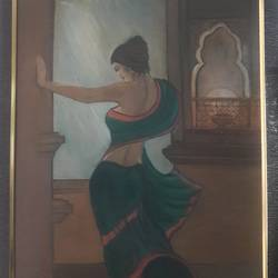 ancient art work , 19 x 26 inch, manishi narula,portrait paintings,paintings for living room,paintings for bedroom,paintings for hotel,hardboard,oil paint,19x26inch,GAL0488511673
