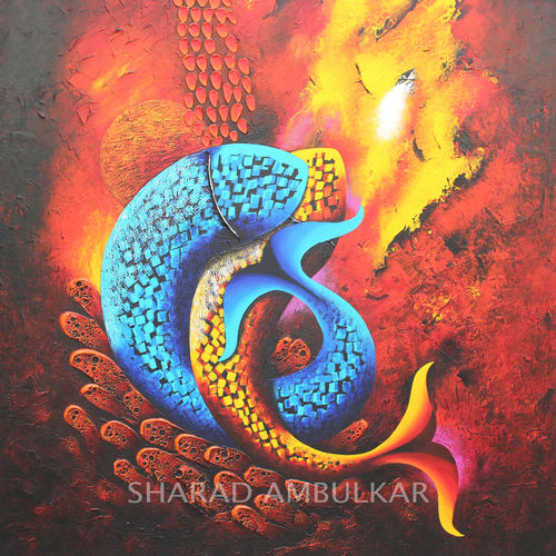 emotions - 46, 30 x 30 inch, sharad ambulkar,paintings,abstract paintings,paintings for dining room,paintings for living room,paintings for bedroom,paintings for office,paintings for hotel,canvas,acrylic color,30x30inch,GAL0494711680