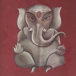 lord ganesha, 12 x 14 inch, manishi narula,religious paintings,ganesha paintings,paintings for living room,paintings for office,paintings for hotel,cloth,fabric,12x14inch,GAL0488511691,vinayak,ekadanta,ganpati,lambodar,peace,devotion,religious,lord ganesha,lordganpati,ganpati bappa morya,ganesh chaturthi,ganesh murti,elephant god,religious,lord ganesh,ganesha,om,hindu god,shiv parvati, putra,bhakti,blessings,aashirwad,pooja,puja,aarti,ekdant,vakratunda,lambodara,bhalchandra,gajanan,vinayak,prathamesh,vignesh,heramba,siddhivinayak,mahaganpati,omkar,mushak,mouse,ladoo,modak