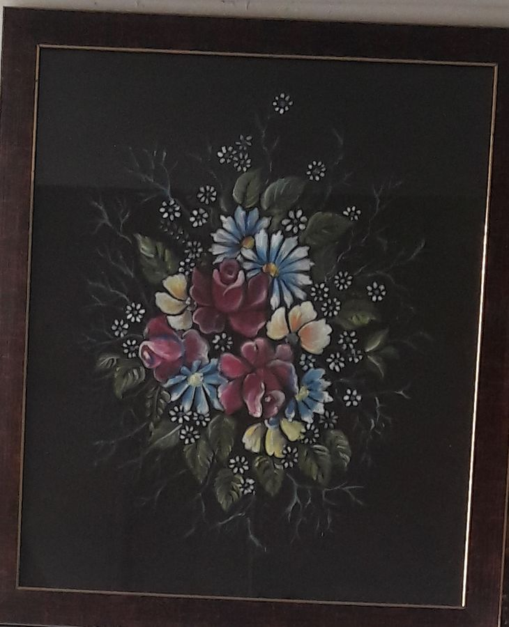 bunch of flowers, 15 x 17 inch, manishi narula,flower paintings,paintings for dining room,paintings for living room,paintings for kitchen,cloth,fabric,15x17inch,GAL0488511692