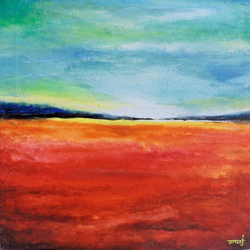 dreamer 4, 12 x 12 inch, anuj malhotra,modern art paintings,paintings for living room,canvas,acrylic color,12x12inch,GAL04841174