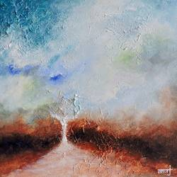 dreamer 11, 12 x 12 inch, anuj malhotra,modern art paintings,paintings for living room,canvas,mixed media,12x12inch,GAL04841183