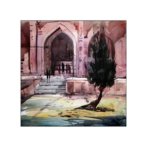humayun tomb, 21 x 15 inch, sankar thakur,landscape paintings,paintings for living room,fabriano sheet,watercolor,21x15inch,GAL07119
