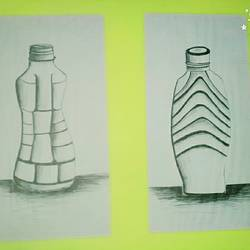 bottle sketch, 12 x 17 inch, salman  saifi,modern drawings,landscape paintings,paintings for kids room,fine art drawings,paper,poster color,12x17inch,GAL0488911901