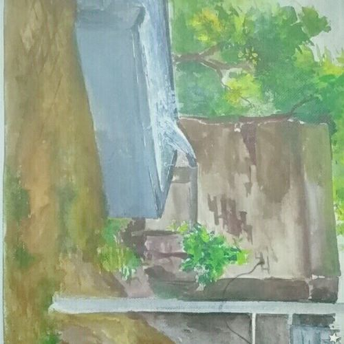 a village tubewell, 12 x 17 inch, salman  saifi,paintings,landscape paintings,paper,watercolor,12x17inch,GAL0488911903