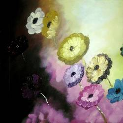 flowers, 21 x 14 inch, mahesh bommanalli,paintings,flower paintings,paintings for dining room,paintings for living room,paintings for bedroom,paintings for kids room,paintings for dining room,paintings for living room,paintings for bedroom,paintings for kids room,canvas,acrylic color,21x14inch,GAL036411907