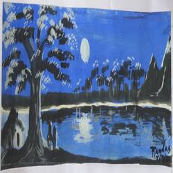 blue evening, 24 x 48 inch, ramdas rn,paintings,nature paintings,paintings for living room,paintings for living room,thick paper,poster color,24x48inch,GAL0497011911Nature,environment,Beauty,scenery,greenery