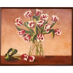 flowers redefined , 15 x 12 inch, tithy agrawal,flower paintings,paintings for dining room,paintings for living room,paintings for bedroom,paintings for office,paintings for kids room,paintings for kitchen,canvas,oil paint,15x12inch,GAL0497211916
