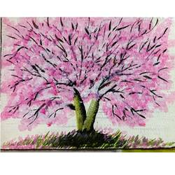 pink tree, 11 x 8 inch, sharad khandelwal,paintings,abstract paintings,paintings for dining room,paintings for living room,paintings for bedroom,paintings for office,paintings for bathroom,paintings for kids room,paintings for hotel,paintings for kitchen,thick paper,acrylic color,11x8inch,GAL0492311927