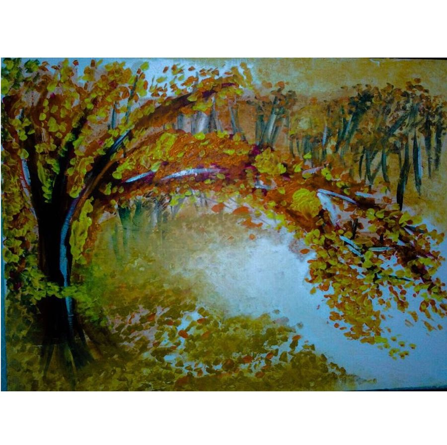 the tree, 36 x 24 inch, sharad khandelwal,paintings,abstract paintings,paintings for dining room,paintings for living room,paintings for bedroom,paintings for office,paintings for kids room,paintings for hotel,paintings for kitchen,canvas,acrylic color,36x24inch,GAL0492311930