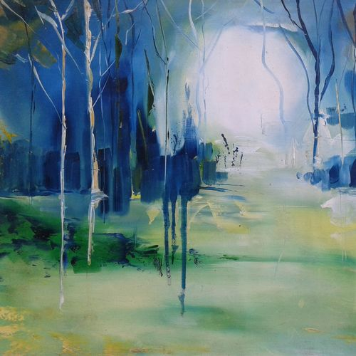 nature landscape, 21 x 14 inch, hitesh kumar,paintings,landscape paintings,paintings for dining room,paintings for hotel,paintings for dining room,paintings for hotel,thick paper,oil,21x14inch,GAL0411511993