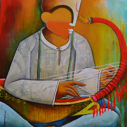 saunk gounk player, 24 x 25 inch, anupam  pal,paintings,figurative paintings,contemporary paintings,paintings for dining room,paintings for living room,paintings for bedroom,paintings for office,paintings for kids room,paintings for hotel,paintings for kitchen,paintings for dining room,paintings for living room,paintings for bedroom,paintings for office,paintings for kids room,paintings for hotel,paintings for kitchen,canvas,acrylic color,24x25inch,GAL08211998