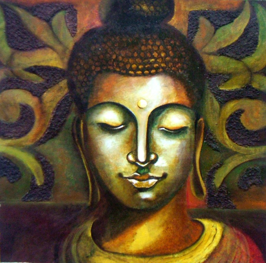 lord buddha - super human, 14 x 15 inch, neeraj parswal,buddha paintings,paintings for living room,paintings for office,canvas,acrylic color,14x15inch,religious,peace,meditation,meditating,gautam,goutam,buddha,brown,face,GAL0112
