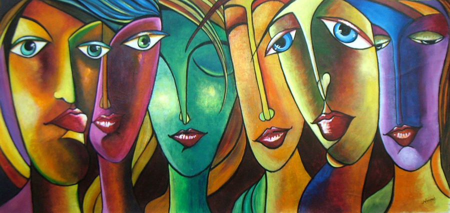 attitudes, 28 x 14 inch, neeraj parswal,modern art paintings,paintings for living room,canvas,acrylic color,28x14inch,GAL091202