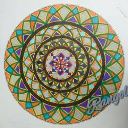 mandala, 26 x 20 inch, sweta gaitonde,drawings,paintings for living room,art deco drawings,paintings for living room,cartridge paper,mixed media,pen color,26x20inch,GAL0313912037