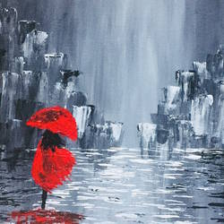 walk in the rain, 16 x 18 inch, krishna goyal,modern art paintings,nature paintings,paintings for living room,paintings for office,paintings for hotel,paintings for living room,paintings for office,paintings for hotel,canvas board,acrylic color,16x18inch,GAL0501612038Nature,environment,Beauty,scenery,greenery