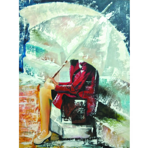 a girl, 18 x 24 inch, ritika chaudhary,abstract paintings,conceptual paintings,still life paintings,portrait paintings,abstract expressionist paintings,art deco paintings,cubist paintings,expressionist paintings,illustration paintings,impressionist paintings,minimalist paintings,photorealism paintings,photorealism,pop art paintings,portraiture,realism paintings,street art,surrealist paintings,contemporary paintings,realistic paintings,love paintings,canvas board,oil,18x24inch,GAL0497312048
