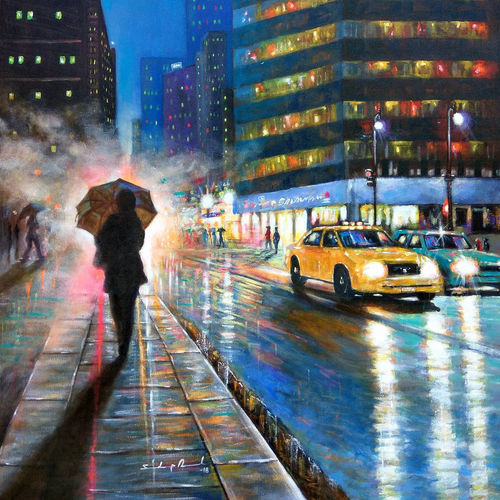 blue city of joy , 25 x 27 inch, sandeep rawal ,cityscape paintings,conceptual paintings,street art,paintings for dining room,paintings for living room,paintings for bedroom,paintings for office,paintings for bathroom,paintings for kids room,paintings for hotel,canvas,acrylic color,25x27inch,GAL0251112053