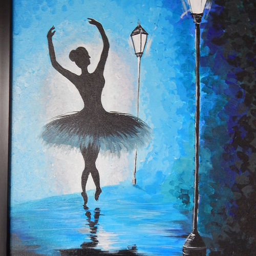 dancing lady on road, 16 x 24 inch, pratik vaghela,paintings,abstract paintings,paintings for dining room,paintings for living room,paintings for office,paintings for bathroom,paintings for hotel,paintings for dining room,paintings for living room,paintings for office,paintings for bathroom,paintings for hotel,canvas,acrylic color,16x24inch,GAL0427312076