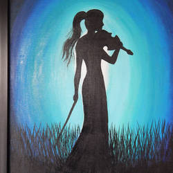 lady with violin, 16 x 24 inch, pratik vaghela,paintings,abstract paintings,paintings for dining room,paintings for living room,paintings for bedroom,paintings for office,paintings for hotel,paintings for dining room,paintings for living room,paintings for bedroom,paintings for office,paintings for hotel,canvas,acrylic color,16x24inch,GAL0427312077