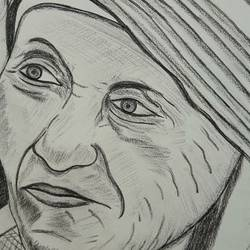 mother, 0 x 0 inch, binay  chaudhary,drawings,fine art drawings,paper,pencil color,0x0inch,GAL0505812085