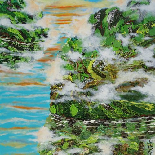 abstract landscape, 36 x 48 inch, nitin dubey,landscape paintings,contemporary paintings,paintings for dining room,paintings for living room,paintings for bedroom,paintings for office,paintings for hotel,paintings for dining room,paintings for living room,paintings for bedroom,paintings for office,paintings for hotel,water fountain paintings,canvas,acrylic color,36x48inch,GAL0438012115