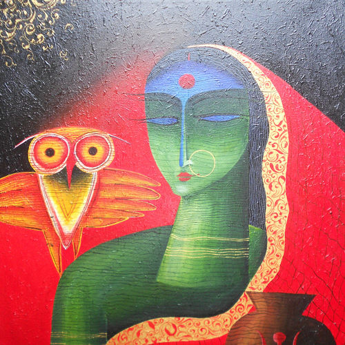 laxmi, 24 x 30 inch, avijit sil,paintings,abstract paintings,paintings for dining room,paintings for office,paintings for hotel,paintings for dining room,paintings for office,paintings for hotel,canvas,acrylic color,24x30inch,GAL0508712117