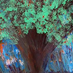 huge green tree, 24 x 36 inch, najmuddin kachwala,paintings,abstract paintings,paintings for dining room,paintings for living room,paintings for bedroom,paintings for office,paintings for bathroom,paintings for hotel,paintings for kitchen,canvas,acrylic color,24x36inch,GAL0508612118