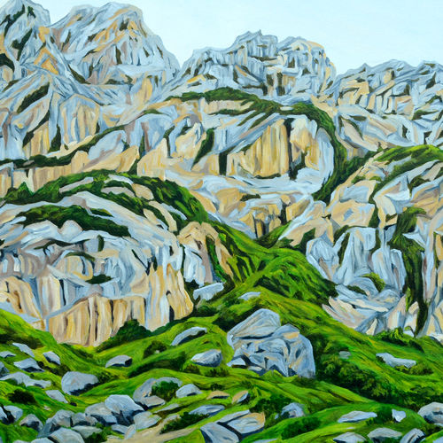 grey mountains, 45 x 30 inch, ajay harit,paintings,landscape paintings,nature paintings,photorealism paintings,realism paintings,paintings for dining room,paintings for living room,paintings for bedroom,paintings for office,paintings for hotel,canvas,oil,45x30inch,GAL0199812125Nature,environment,Beauty,scenery,greenery,grass