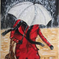 in the rain..!, 10 x 15 inch, p sisira,paintings,abstract paintings,paintings for living room,paintings for bedroom,paintings for hotel,drawing paper,acrylic color,10x15inch,GAL0116012127
