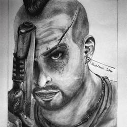 far cry3, 8 x 12 inch, rushikesh sutar,drawings,expressionist drawings,fine art drawings,impressionist drawings,modern drawings,portrait drawings,brustro watercolor paper,charcoal,graphite pencil,8x12inch,killer,GAL0511112141