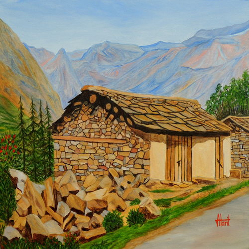 in consonance with nature, 30 x 20 inch, ajay harit,paintings for bedroom,paintings for dining room,paintings for living room,paintings for office,paintings for hotel,paintings for bedroom,landscape paintings,nature paintings,photorealism paintings,realism paintings,realistic paintings,paintings for school,paintings for hospital,canvas,oil,30x20inch,GAL0199812144Nature,environment,Beauty,scenery,greenery