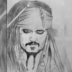 jonney depp, 7 x 12 inch, praveen vijay,photorealism,paintings for dining room,paintings for living room,paintings for office,paintings for dining room,paintings for living room,paintings for office,figurative drawings,drawing paper,pencil color,7x12inch,GAL0511412149