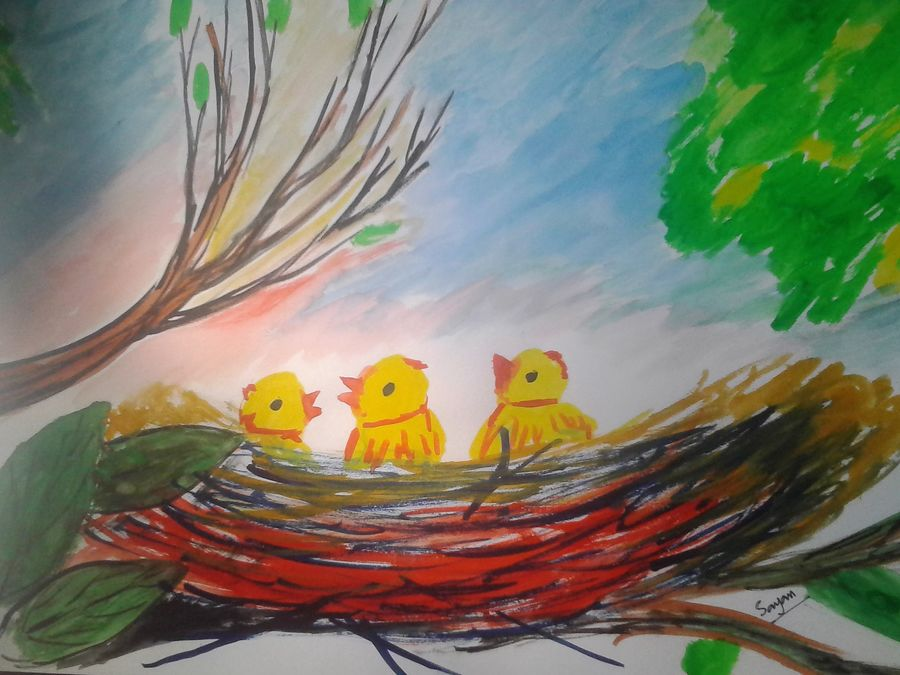 , 15 x 10 inch, sayan das,paintings,wildlife paintings,nature paintings,paintings for living room,paintings for office,paintings for kids room,paintings for living room,paintings for office,paintings for kids room,drawing paper,poster color,15x10inch,GAL0511612154Nature,environment,Beauty,scenery,greenery