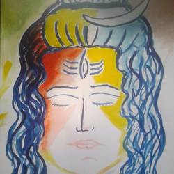 the shiva, 11 x 16 inch, sayan das,impressionist paintings,paintings for dining room,paintings for living room,paintings for office,paintings for kids room,paintings for hotel,paintings for dining room,paintings for living room,paintings for office,paintings for kids room,paintings for hotel,lord shiva paintings,drawing paper,poster color,11x16inch,GAL0511612170