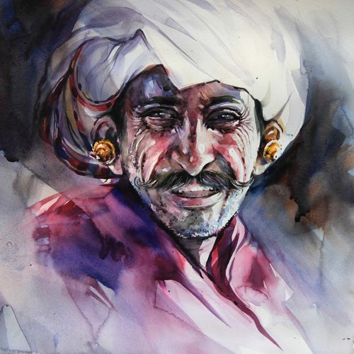 growing old-2, 20 x 14 inch, bijendra  pratap ,figurative paintings,paintings for living room,renaissance watercolor paper,watercolor,20x14inch,GAL04531218
