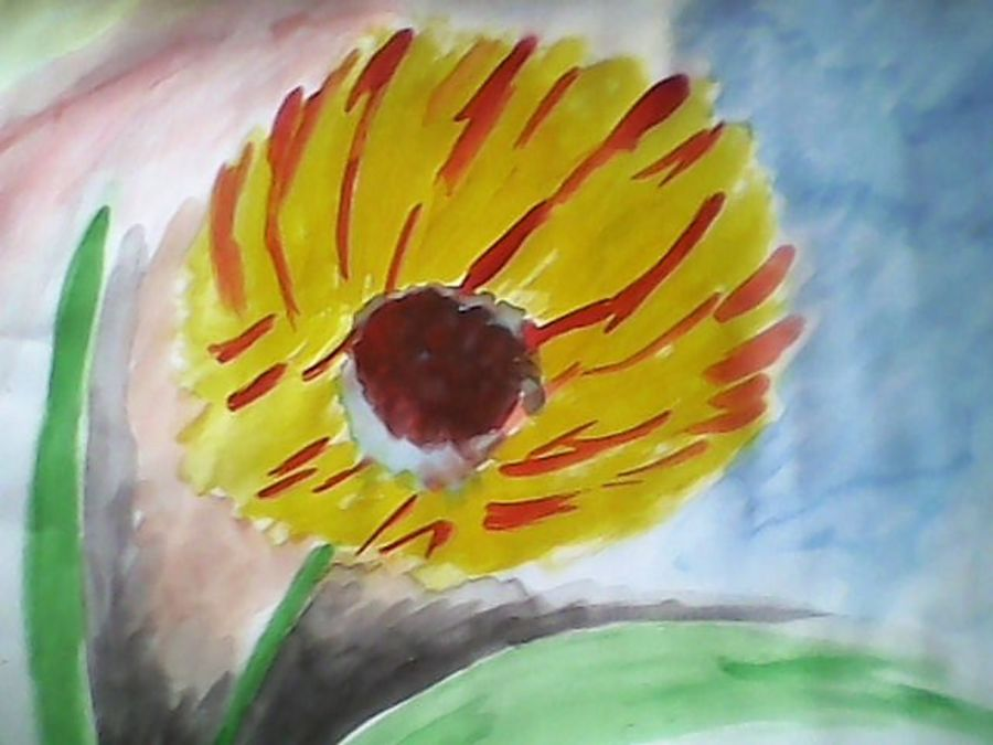of flower, 16 x 11 inch, sayan das,paintings,flower paintings,modern art paintings,nature paintings,paintings for living room,paintings for bedroom,paintings for office,paintings for kids room,paintings for hotel,thick paper,poster color,16x11inch,GAL0511612182Nature,environment,Beauty,scenery,greenery
