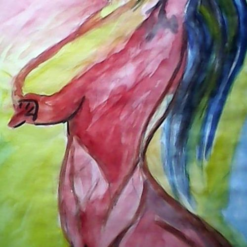 nude beauty, 11 x 16 inch, sayan das,paintings,modern art paintings,conceptual paintings,paintings for living room,paintings for bedroom,paintings for office,paintings for bathroom,paintings for hotel,thick paper,poster color,11x16inch,GAL0511612183